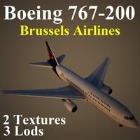 boeing 767-200 dat 3d max