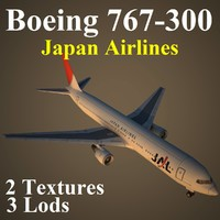 boeing 767-300 jal 3d max