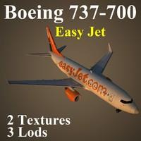 3d max boeing 737-700 jet ezy