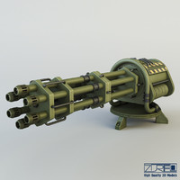 3d model machine gun ciz