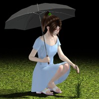 japanese girl natsumi umbrella 3ds