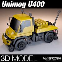 3d unimog u400 model