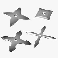 obj model japanese shuriken