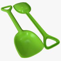 3d model toy shovel