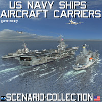 Us Navy Ships Aircraft Carriers Scenario and Collection