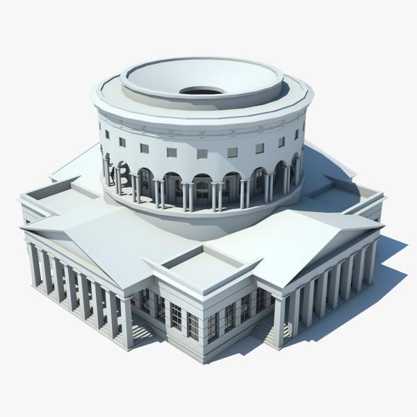 classical rotunda 3d max
