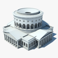 3d model classical rotunda