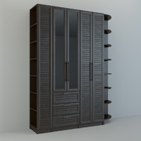 3d model realistic wall unit