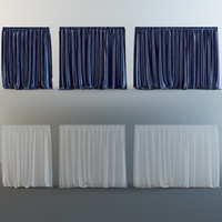 curtains v-ray tulle 3d model