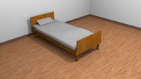 bed room 3d obj