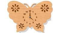 3d model butterfly clock
