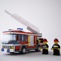 3d ma lego truck