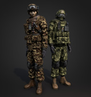 soldier man military 3d obj