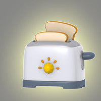 3d cartoon toaster model