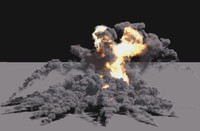 3d bombs explosion