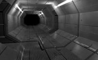 3d model of starship corridor