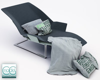maya chaise blanket pillows