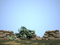 stone wall 3d 3ds