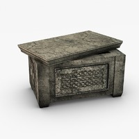 Ancient stone ark storage box