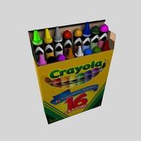 3d model box crayons