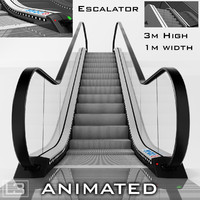 Escalator 3m high animated