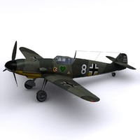 3ds max german walter nowotny bf-109