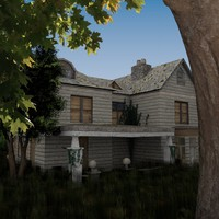house modelled ivy 3ds