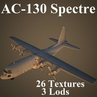3d model of ac-130 spectre