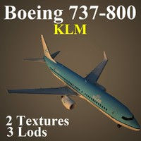 3d model of boeing 737-800 klm