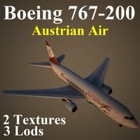 boeing 767-200 aua 3d max