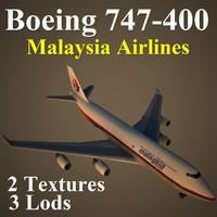 3d model boeing 747-400 mas