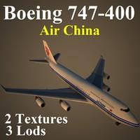 3d boeing 747-400 cca