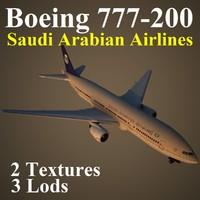 3d boeing 777-200 sva model