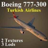 3ds max boeing 777-300 thy