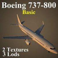 3d model of boeing 737-800 basic