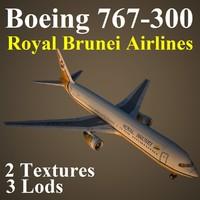 3d boeing 767-300 rba model