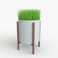 modern planter 3d model