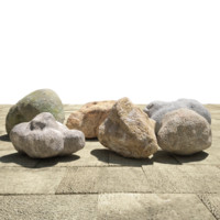 3d model of pack rocks