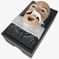 3d shakespeare tissue box