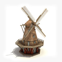 Copenhagen windmill (low-poly)