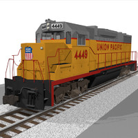 Train Engine: Union Pacific: EMD GP38: C4D Model