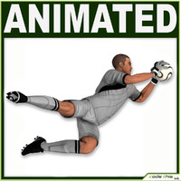 White Soccer Player Goalkeeper CG