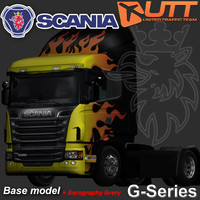 3d max scania truck aerography