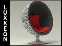 free classic ball chair 3d model