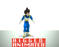 dragonballz vegeta rigged 3d model