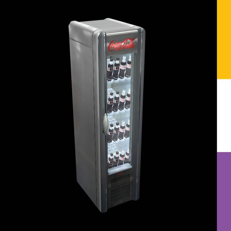 Drinks Fridge Coca Cola Retro 3d Model