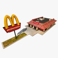 3d mcdonalds restaurant model