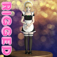 Rigged model of Saber maid