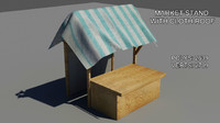 3ds max cloth covering wood