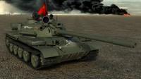 3d medium tank t-54m t-54s model